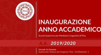 Scuola Superiore per Mediatori Linguistici di Pisa – inaugurazione dell'Anno Accademico 2019/2020