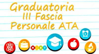 Graduatorie provvisorie di III fascia ATA